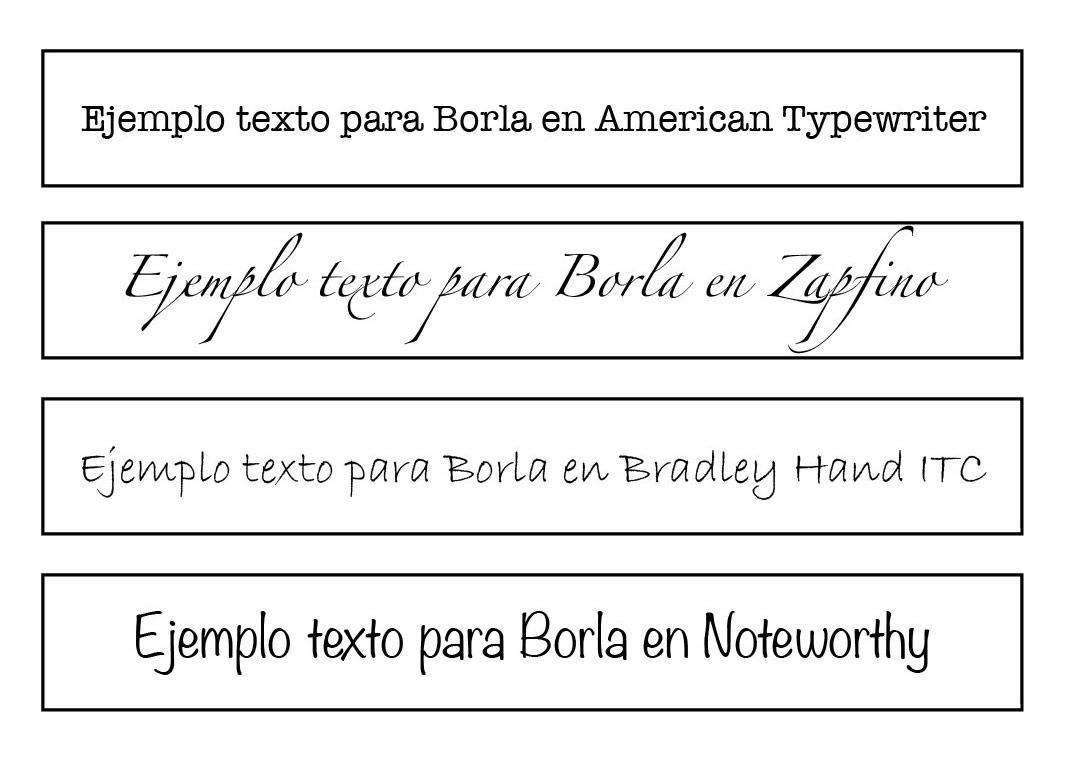 Elige la tipografía que prefieras