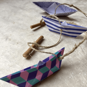 Taller girnalda de origami en Sant Cugat