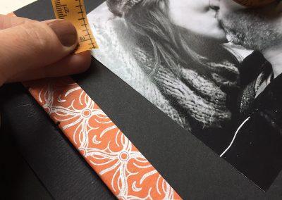 Álbum naranja y plata